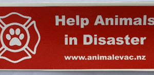 Red bumper sticker